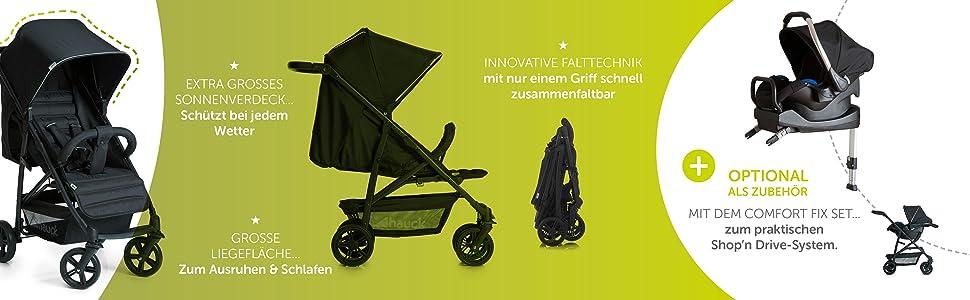 hauck rapid 4 buggy klein und zusammenklappbar einhand. Black Bedroom Furniture Sets. Home Design Ideas
