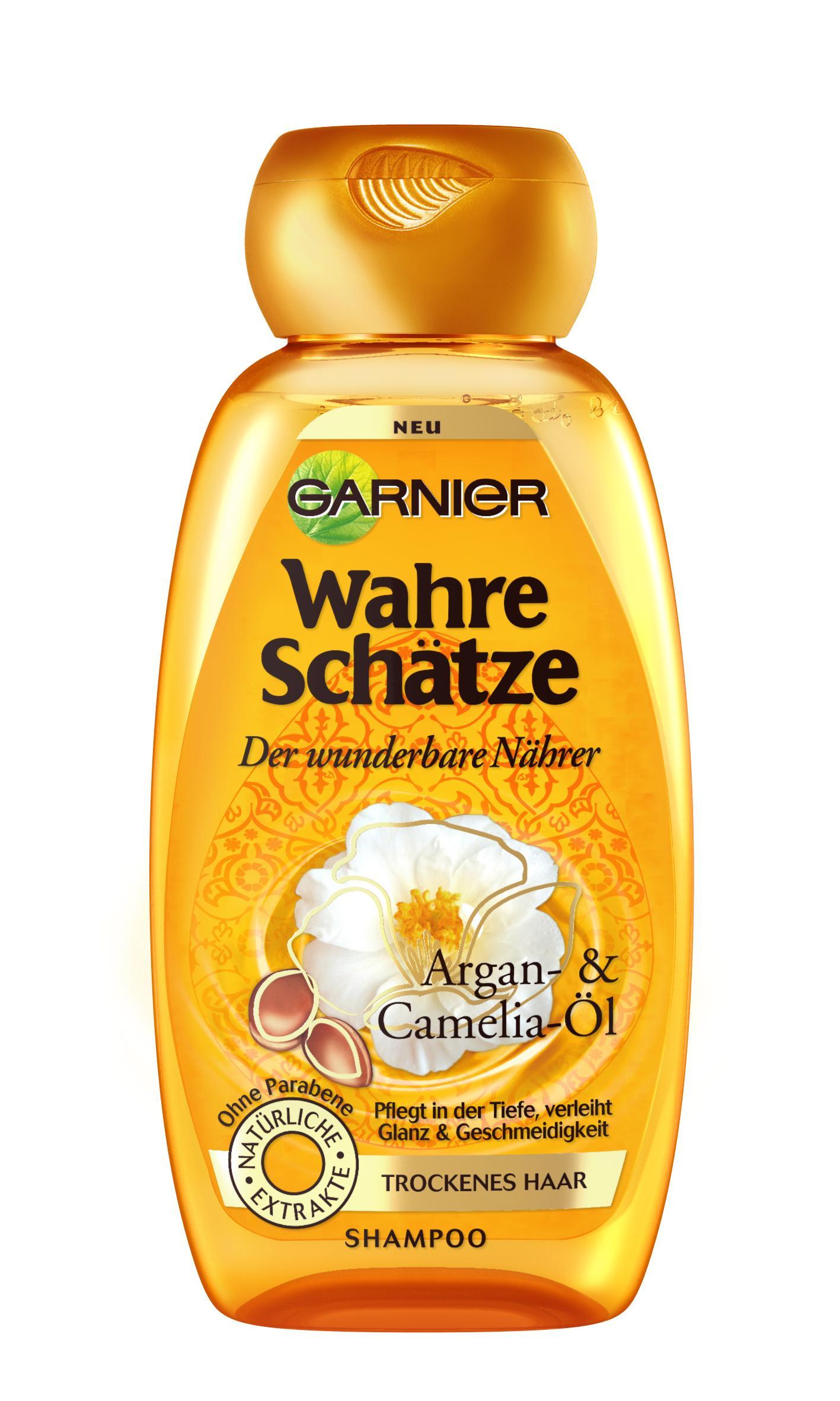 Garnier Wahre Schätze Shampoo Glanz Geschmeidigkeit 1er Pack 1 X 250 Ml