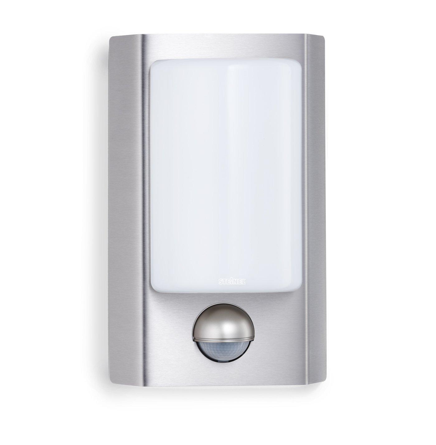 steinel sensor wandleuchte l 867 s au enleuchte aus edelstahl und opalglas mit 180. Black Bedroom Furniture Sets. Home Design Ideas