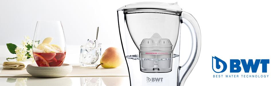 BWT Initium Tischwasserfilter 2,5l , Wasserfilter für Leitungswasser