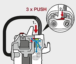 Filterreinigung des Nass- Trockensaugers von Kärcher