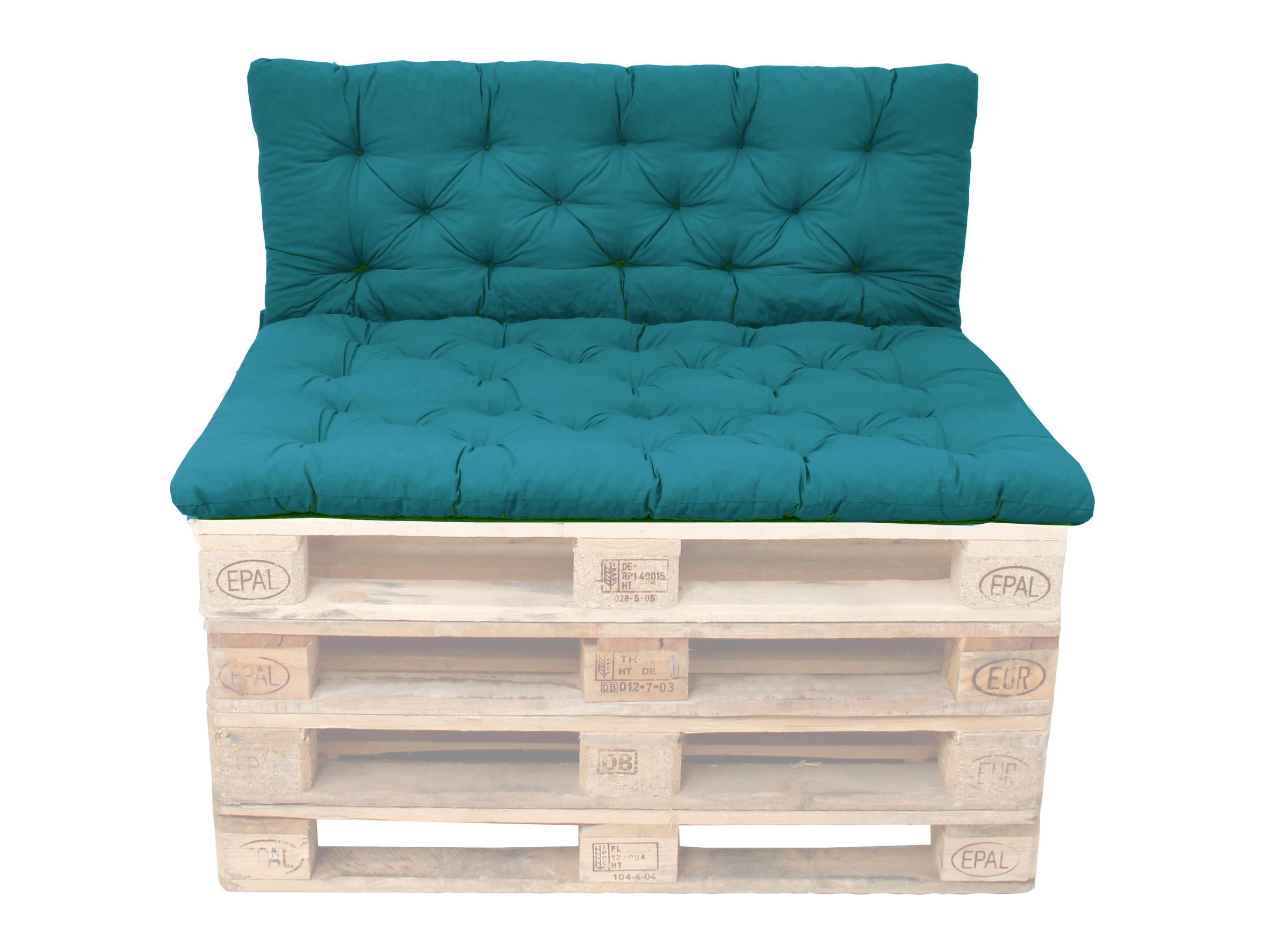 ambientehome palettenkissen mit r ckenlehne blau sitzpolster 120 x 80 r ckenkissen 120 x 60. Black Bedroom Furniture Sets. Home Design Ideas