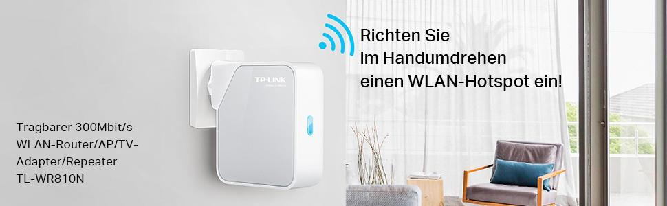 tp link tl wr810n v2 0 n300 wlan nano router 2 4ghz. Black Bedroom Furniture Sets. Home Design Ideas