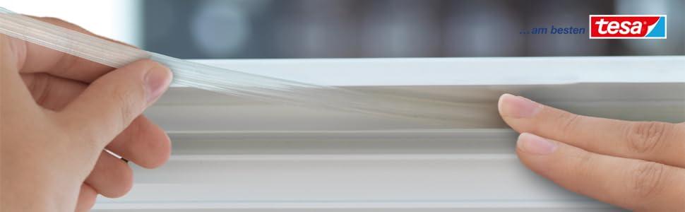 tesamoll schaumstoffdichtung f r fenster und t ren braun standard i profil 6m. Black Bedroom Furniture Sets. Home Design Ideas