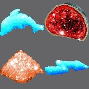 Gruppe von Kristallen