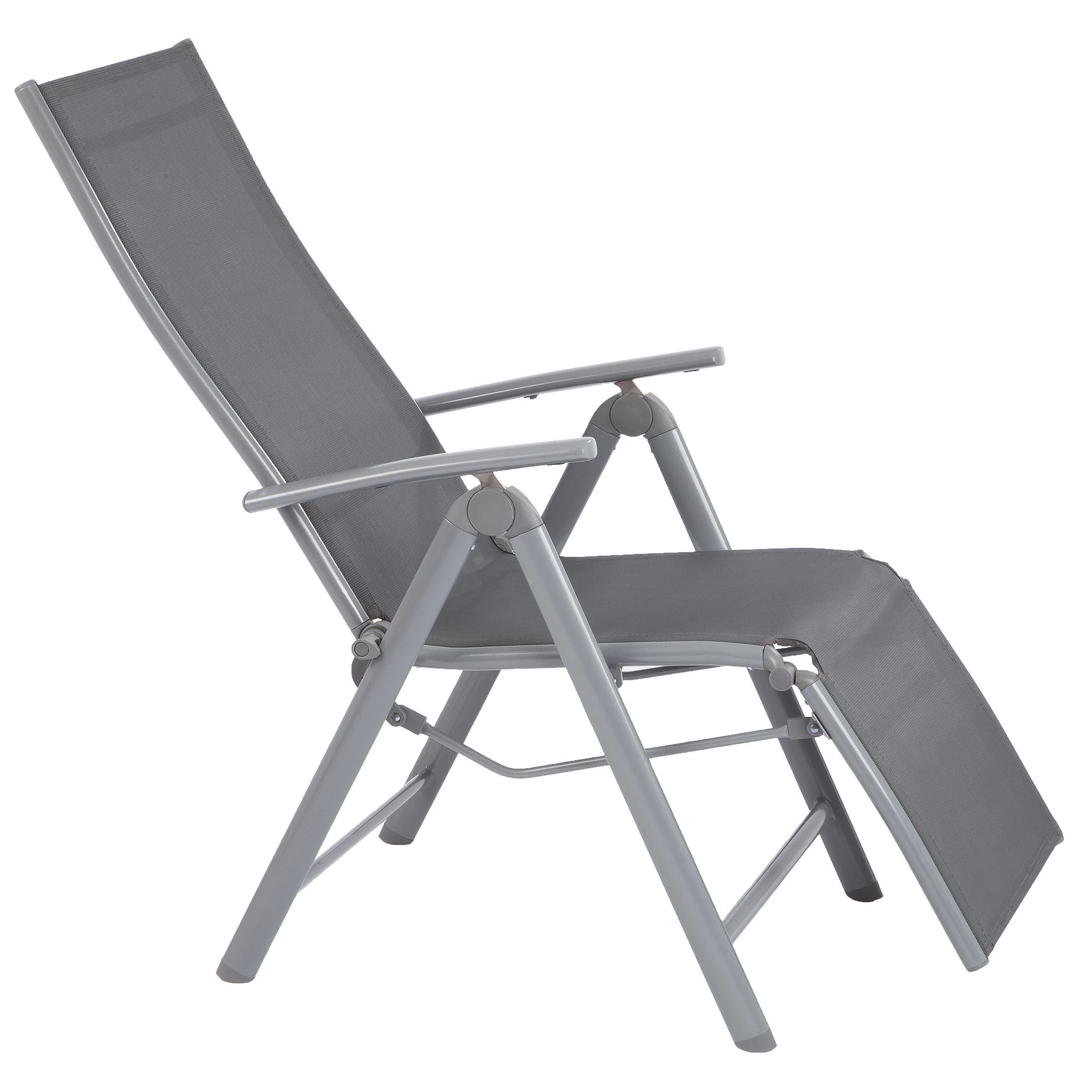 ultranatura aluminium relax sessel mit armlehne korfu serie 73 x 60 x 112 cm. Black Bedroom Furniture Sets. Home Design Ideas