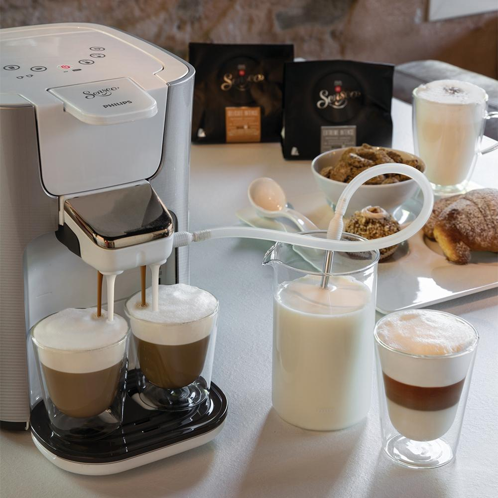 philips senseo latte duo silber hd7857 20. Black Bedroom Furniture Sets. Home Design Ideas
