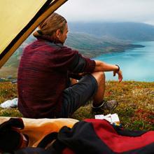 Beim Camping