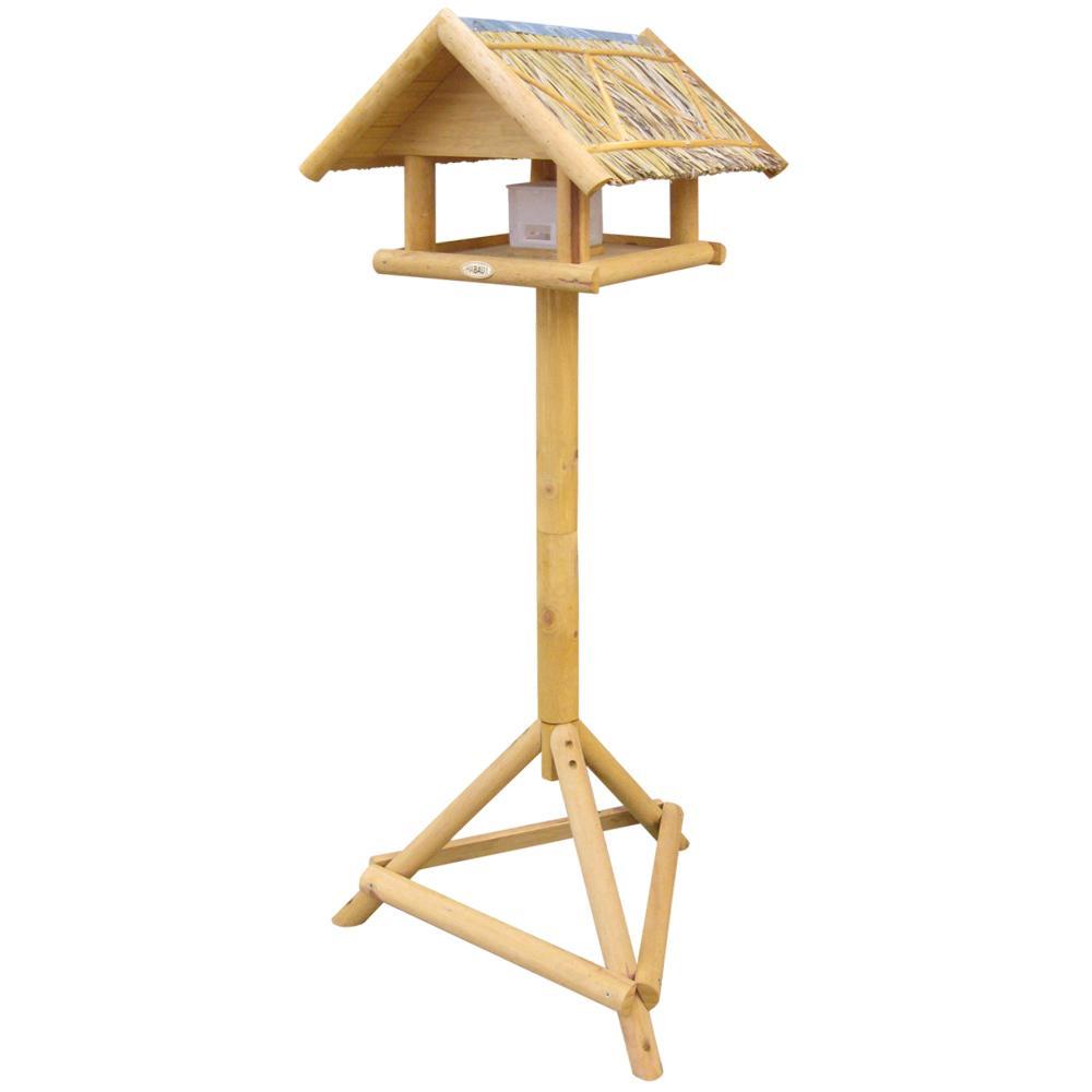 habau vogelhaus borkum mit strohdach inklusive st nder und. Black Bedroom Furniture Sets. Home Design Ideas