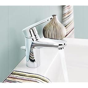 grohe europlus bad waschtischarmatur herausziehbarer auslauf 33155002 baumarkt. Black Bedroom Furniture Sets. Home Design Ideas