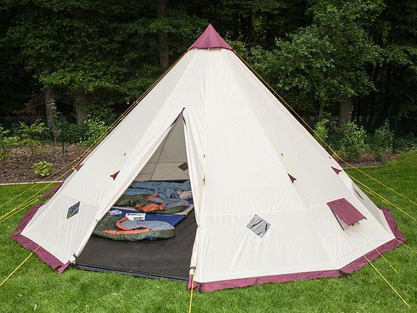 Im Zelt Vor Blitz Geschützt : Skandika tipi personen familienzelt tipii teepee