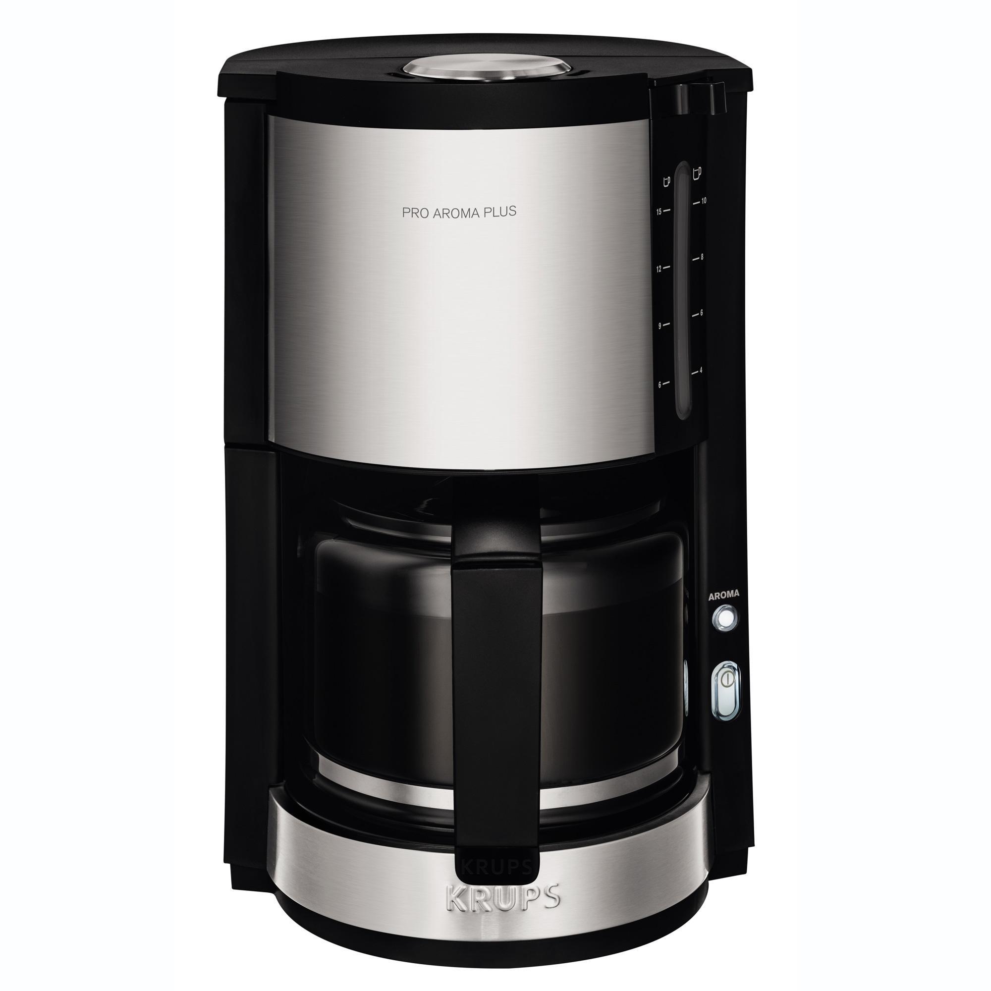 krups km321 proaroma plus glaskaffeemaschine, 10 tassen  ~ Kaffeemaschine Heißbrühsystem
