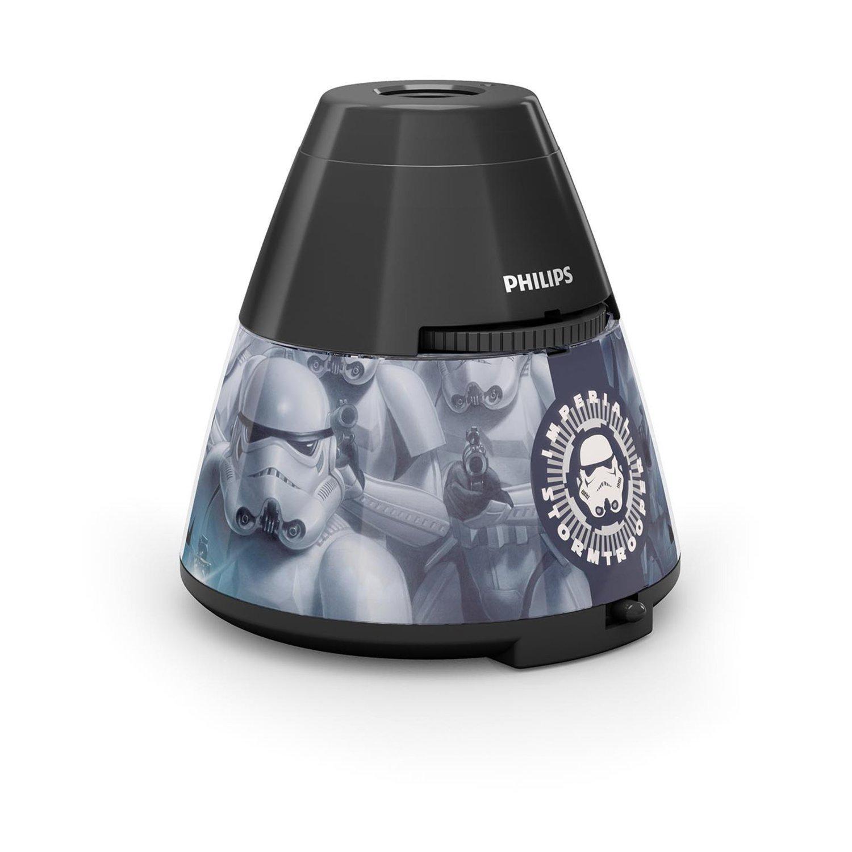 philips disney star wars led tischleuchte mit projektor schwarz 915005143201. Black Bedroom Furniture Sets. Home Design Ideas
