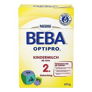 Nestlé BEBA OPTIPRO Kindermilch Ab Dem 2. Geburtstag: Als Bestandteil Einer  Abwechslungsreichen Und Ausgewogenen Ernährung Sowie Im Rahmen Einer  Gesunden ...