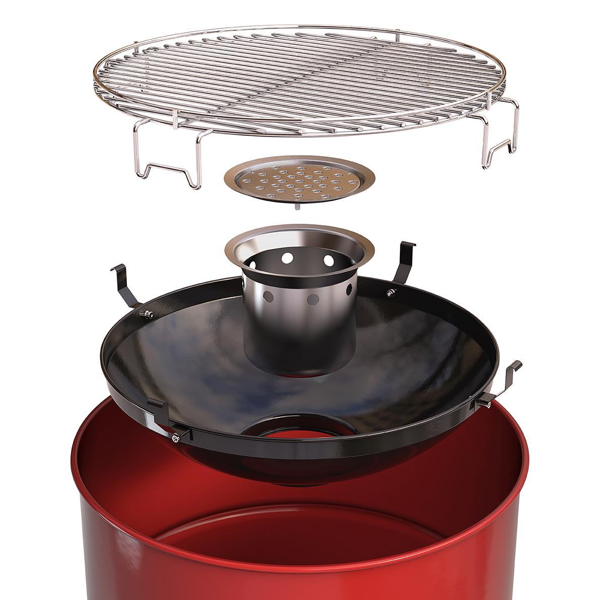 barbecook Holzkohlegrill, Edson, schwarz, 60 x 60 x 89 cm
