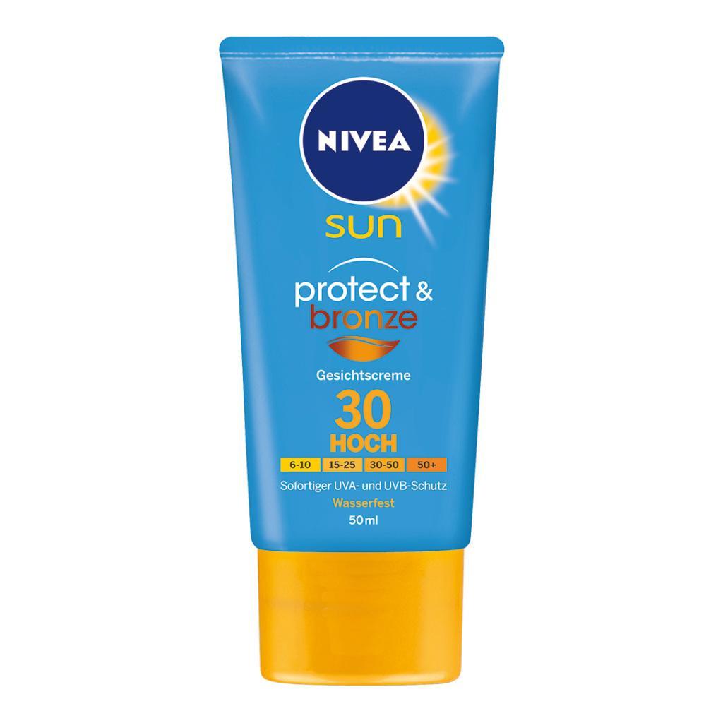 nivea sun protect bronze f rs gesicht lsf 30 1er pack 1 x 50 ml beauty. Black Bedroom Furniture Sets. Home Design Ideas