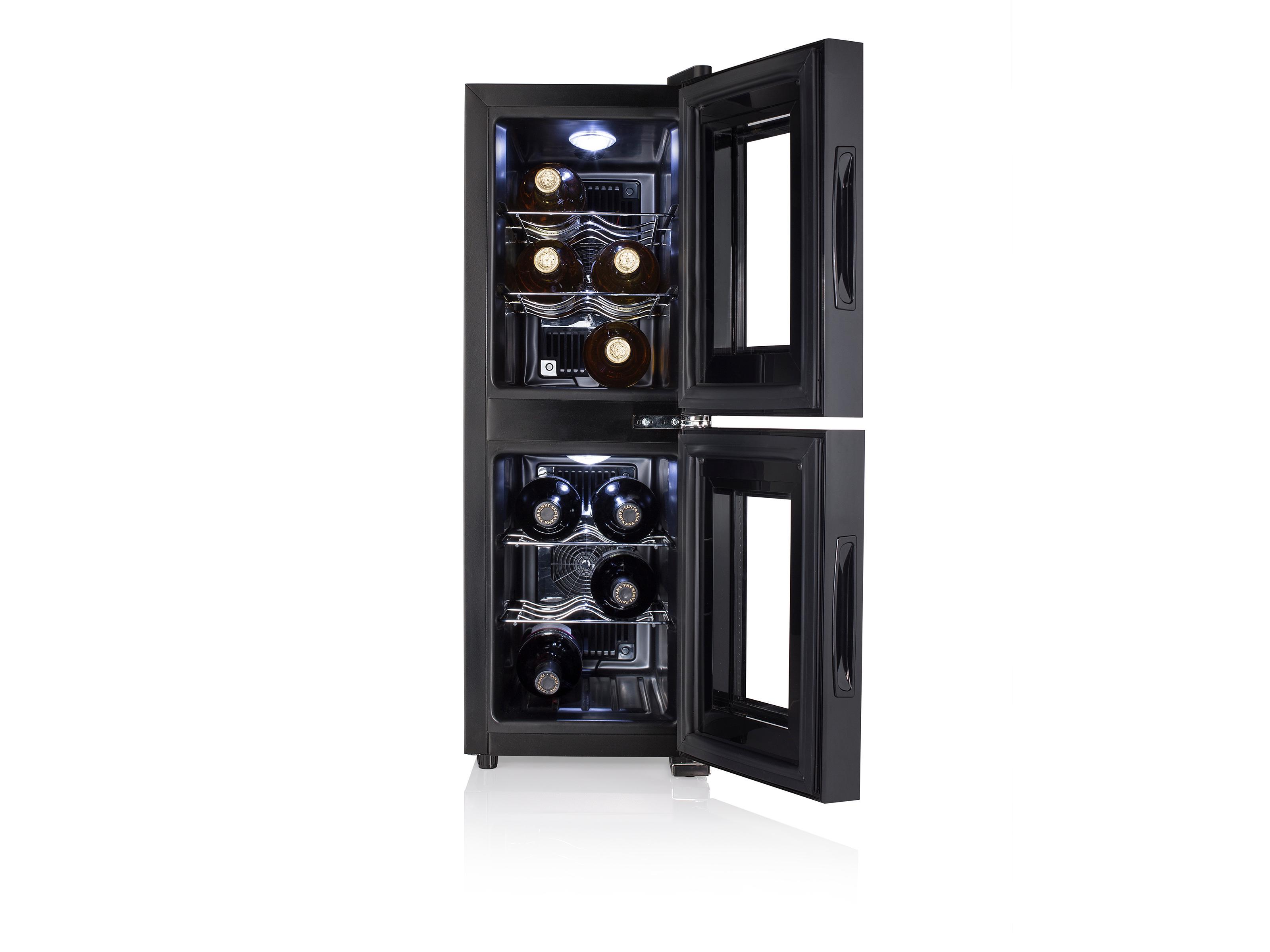 Tristar WR-7512 Zwei-Zonen Weinkühlschrank für 12 Flaschen, 2 ...