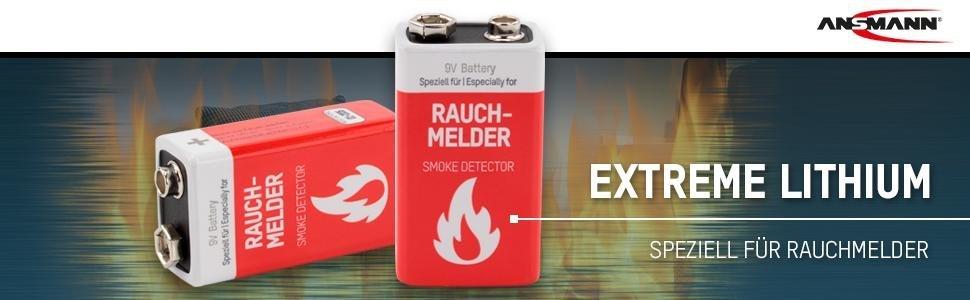 ansmann lithium rauchmelder batterie feuermelder elektronik. Black Bedroom Furniture Sets. Home Design Ideas