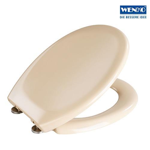wenko 18760100 premium wc sitz ottana beige absenkautomatik rostfreie fix clip hygiene. Black Bedroom Furniture Sets. Home Design Ideas