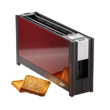 ritter toaster volcano 5 mit eleganten glasfronten in rot. Black Bedroom Furniture Sets. Home Design Ideas