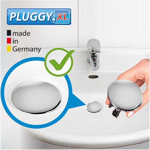 wenko 21023100 waschbeckenst psel pluggy xl chrom abfluss stopfen f r alle handels blichen. Black Bedroom Furniture Sets. Home Design Ideas
