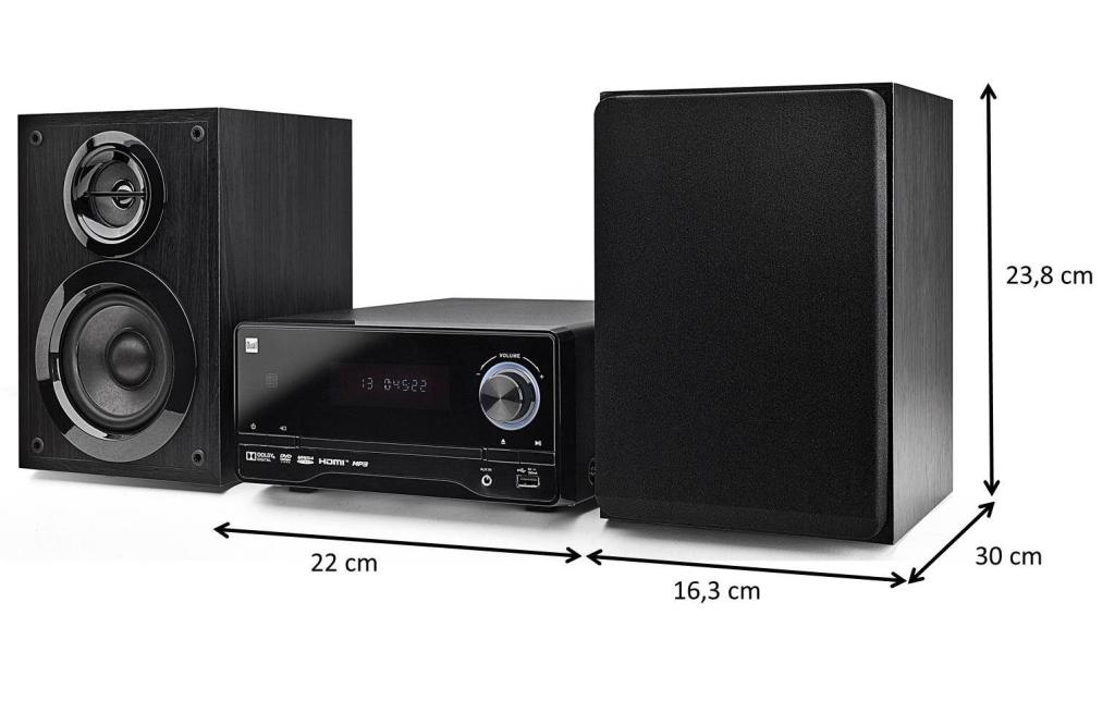 dual dvd ms 120 dvd micro anlage mit cd dvd player ukw. Black Bedroom Furniture Sets. Home Design Ideas