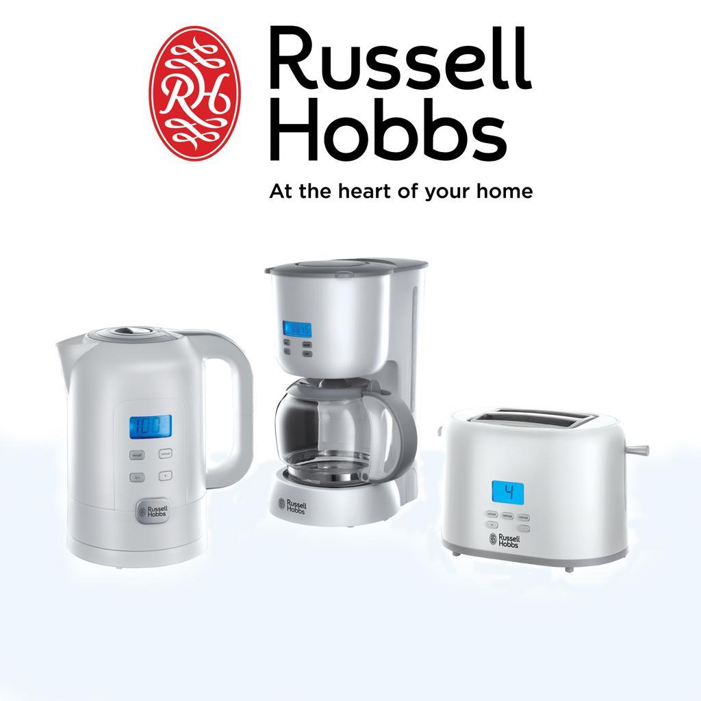 russell hobbs precision control 21170 56 glas kaffeemaschine mit lcd anzeige wei. Black Bedroom Furniture Sets. Home Design Ideas