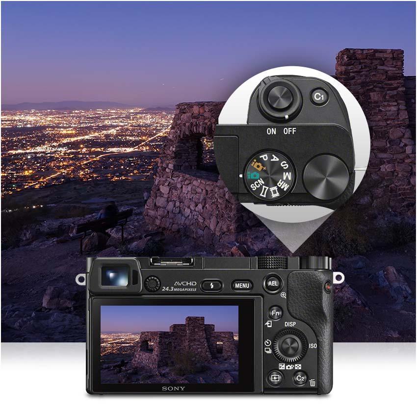 sony alpha 6000 systemkamera 3 inkl sel p1650 kamera. Black Bedroom Furniture Sets. Home Design Ideas