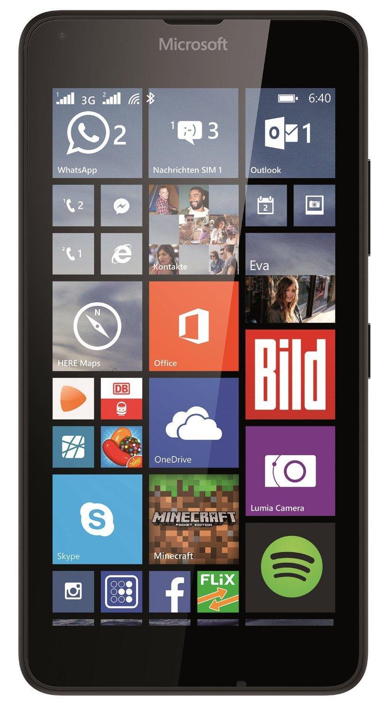 Microsoft Lumia 640 Dual-SIM Smartphone 12,7 cm schwarz