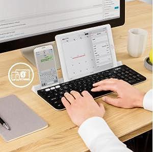 Kabellose Tastatur, Bluetooth-Tastatur, BT-Tastatur, Universaltastatur, mobile Tastatur, All-in-One-