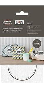 Avery LIVING 4x Metall-Rahmen Etiketten-Halter Einsteck-Schildern Beschriftung
