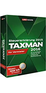 TAXMAN 2016 für Vermieter