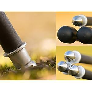 Spikes für Stabilität und festem Halt im Boden