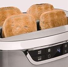 caso novea t4 design toaster f r 4 scheiben mit motorlift 9 br unungsstufen inkl. Black Bedroom Furniture Sets. Home Design Ideas