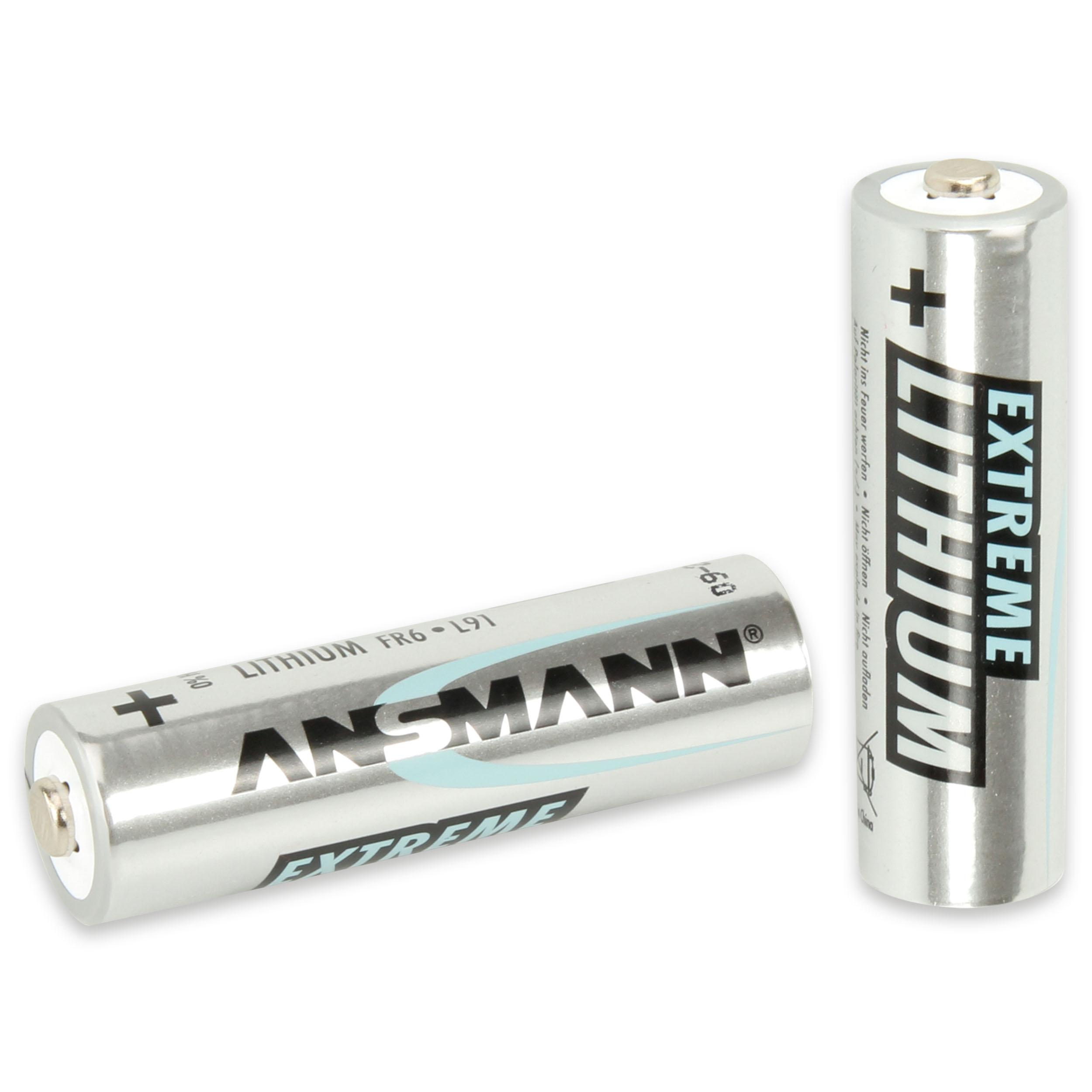 ansmann extreme lithium batterie aa mignon 2er pack elektronik. Black Bedroom Furniture Sets. Home Design Ideas