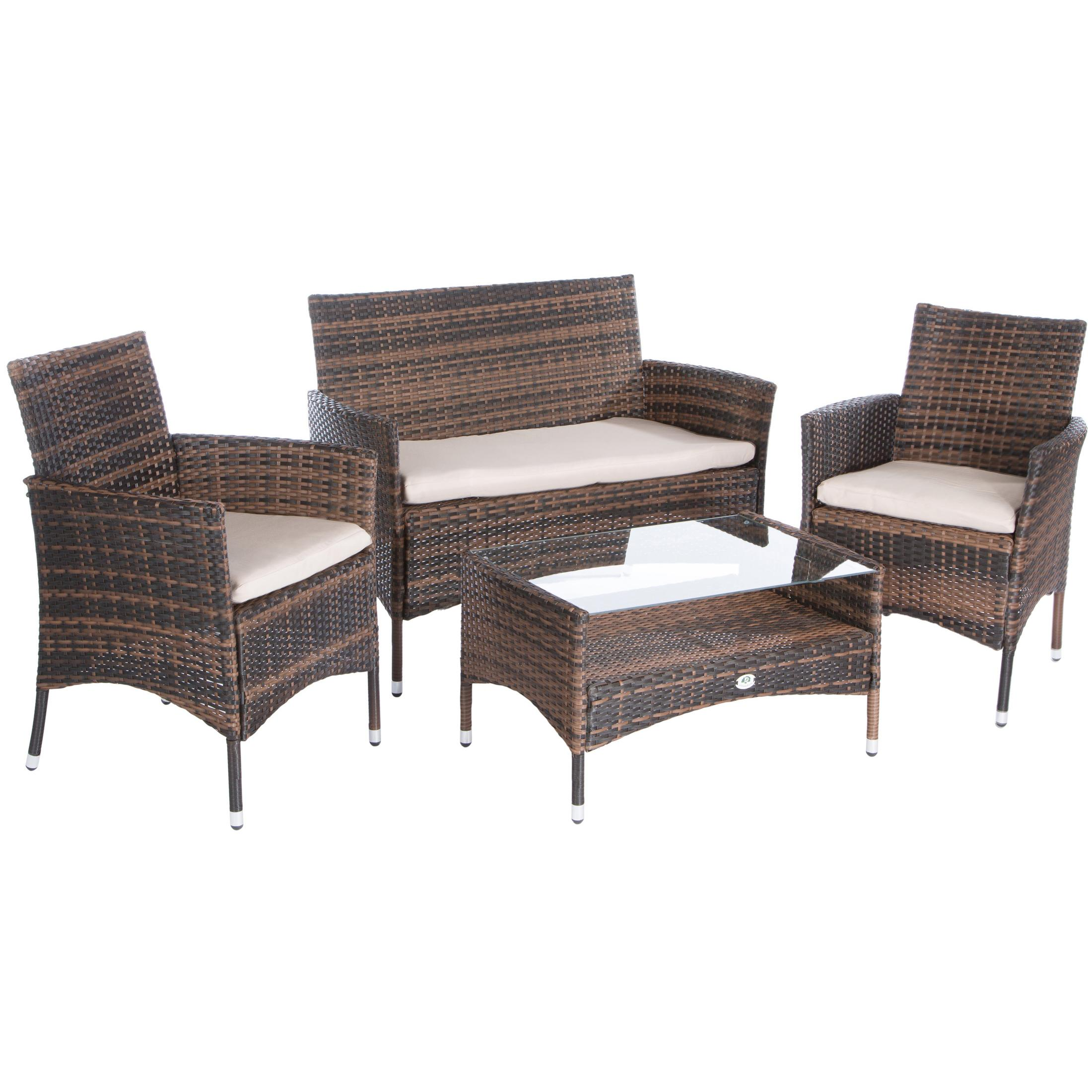 polyrattan essgruppe sitzgruppe terassenm bel outdoor m bel rattan lounge set ebay. Black Bedroom Furniture Sets. Home Design Ideas