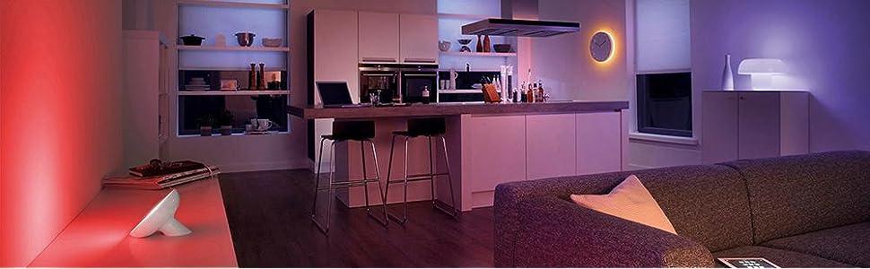 philips hue lightstrips erweiterung f r alle hue starter sets 2m 16 mio farben app. Black Bedroom Furniture Sets. Home Design Ideas