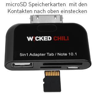 5in1 Adapter Verbindungsstation für Geräte mit Samsung 30-Pin Anschluss