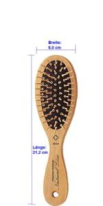 natur haar bürste holz fripac medis natural line paddle