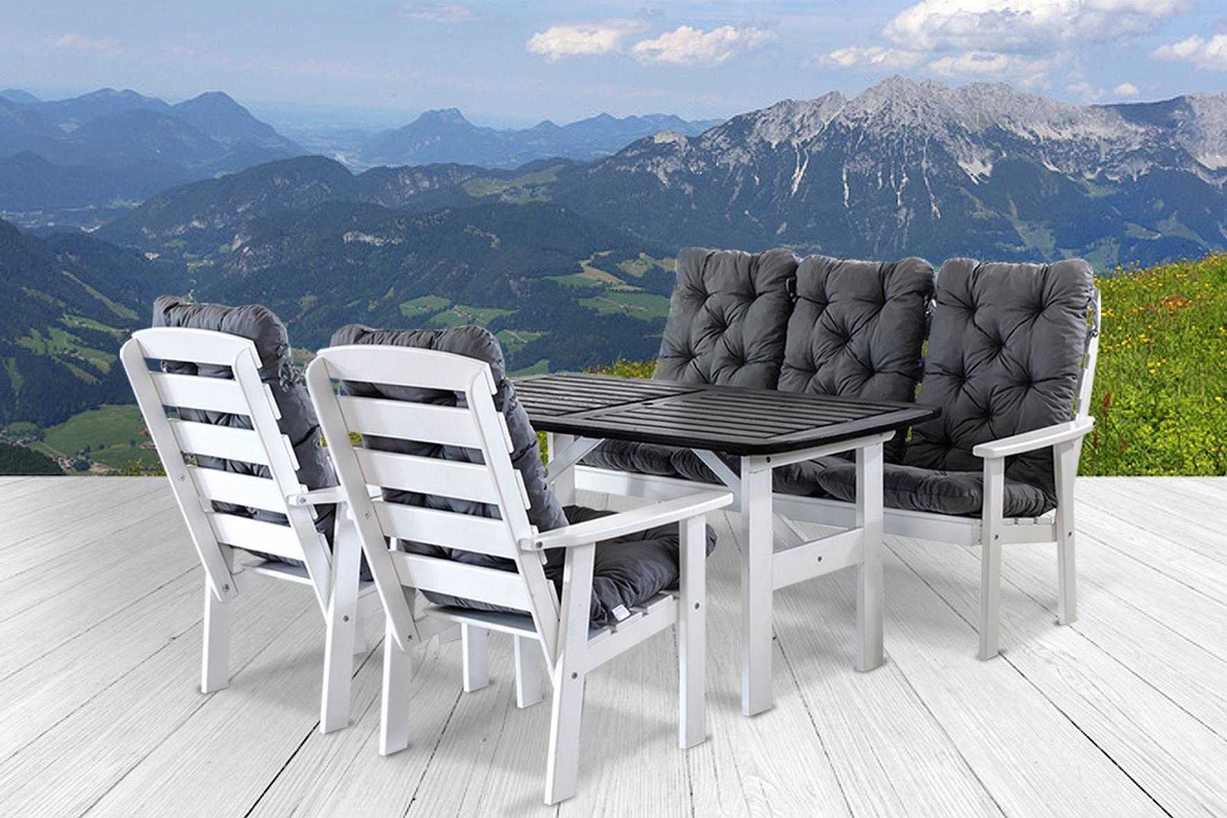 ambientehome 90397 9 teilig garten sitzgruppe essgruppe loungegruppe gartenm bel. Black Bedroom Furniture Sets. Home Design Ideas