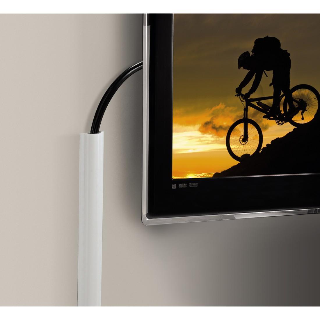 hama kabelkanal halbrund selbstklebend 100 x 3 5 x 0 9 cm bis zu 2 kabel wei. Black Bedroom Furniture Sets. Home Design Ideas