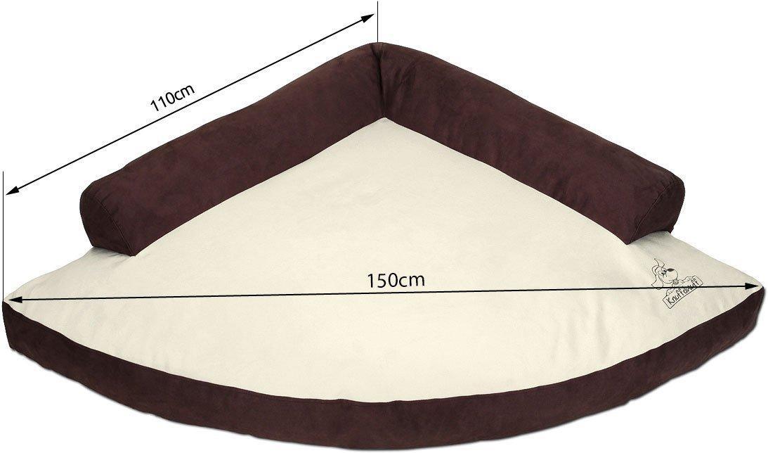 knuffelwuff 12780 eck hundebett wallace gr e xxl 110 x. Black Bedroom Furniture Sets. Home Design Ideas