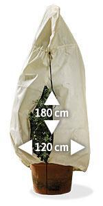 XXL Kübelpflanzen-Sack Pflanzenschutz B 120 cm H 180 cm 70 gr//m2 *** Top Produkt