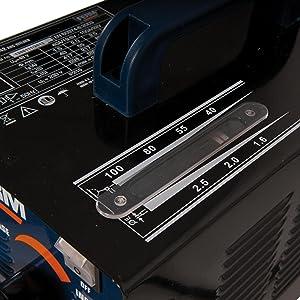 ferm wem1042 elektro schwei ger t 40 100 ampere 1 6 2 5 mm thermischen sicherung inkl. Black Bedroom Furniture Sets. Home Design Ideas
