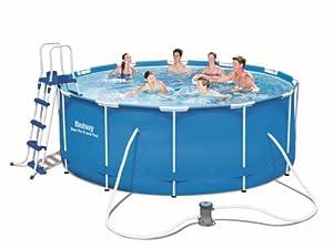 Bestway Hydrium Splasher Pool Set, rund, 8648 L, weiß, 360