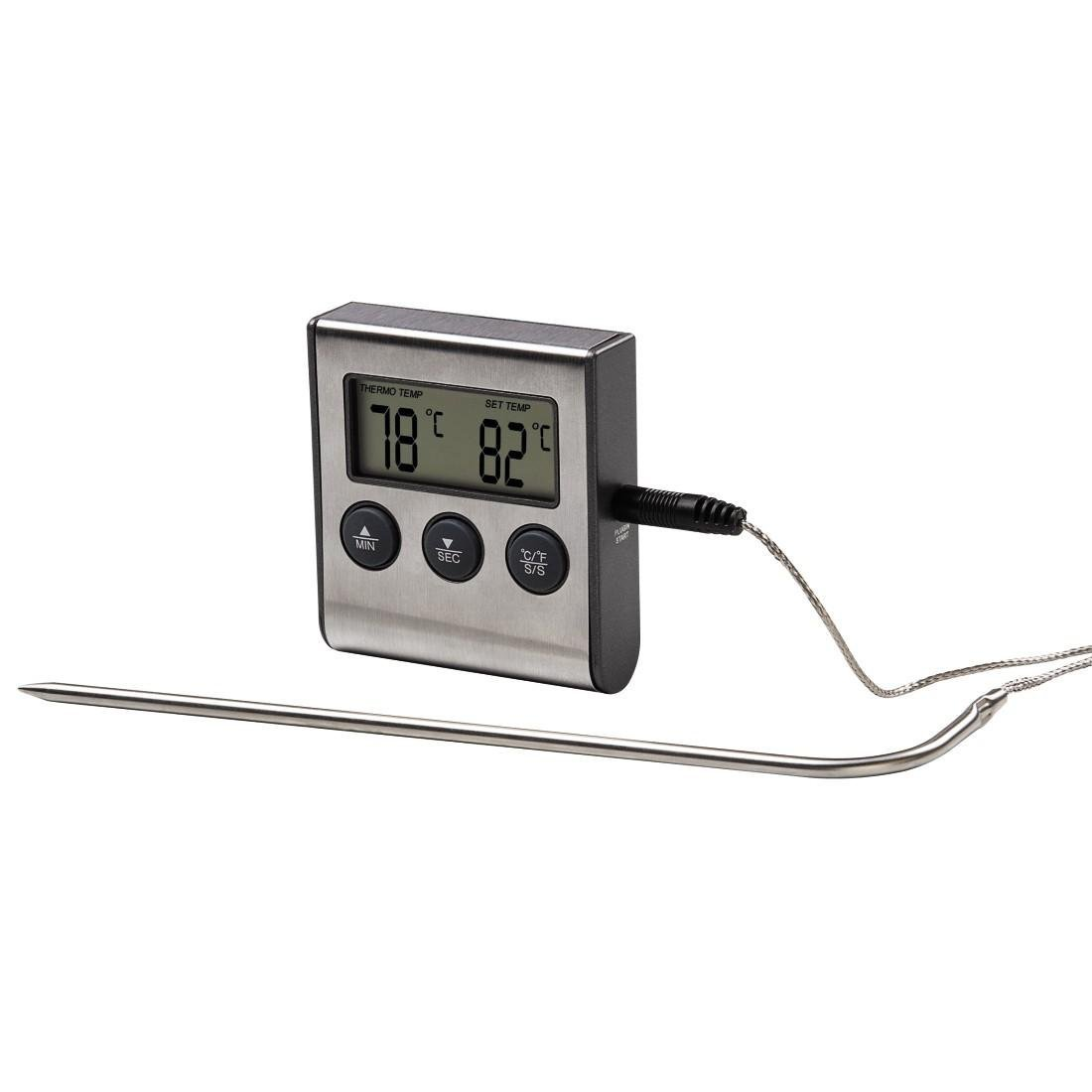 xavax 2in1 digitales bratenthermometer mit k chenuhr. Black Bedroom Furniture Sets. Home Design Ideas