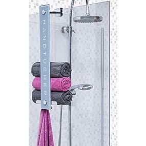 cornat design handtuchhalter praktische aufbewahrung f r bis zu 8 handt cher zum einh ngen an. Black Bedroom Furniture Sets. Home Design Ideas