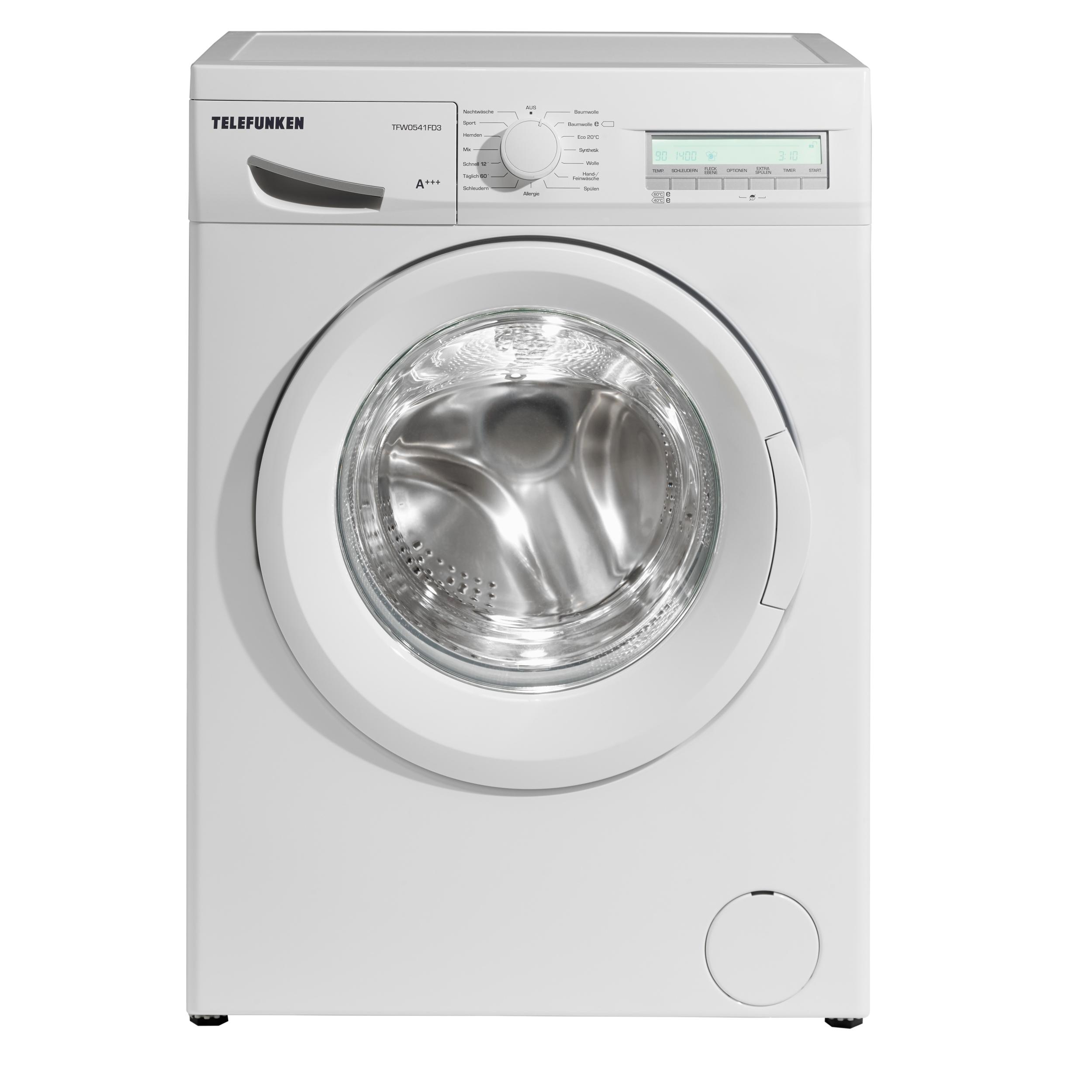 telefunken tfw0541fd3 waschmaschine fl a 162 kwh. Black Bedroom Furniture Sets. Home Design Ideas