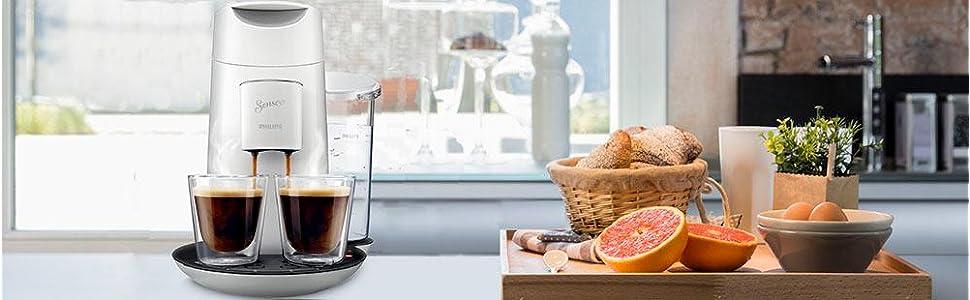 senseo hd7871 10 twist kaffeepadmaschine xl wassertank wei. Black Bedroom Furniture Sets. Home Design Ideas