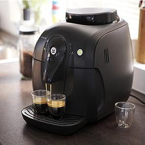 philips hd8650 01 2000 serie kaffeevollautomat keramikmahlwerk schwarz. Black Bedroom Furniture Sets. Home Design Ideas